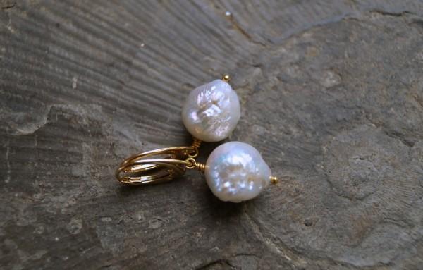 Perlenohrringe Kasumi Perlen 925 Silber vergoldet Perlen Ohrhänger