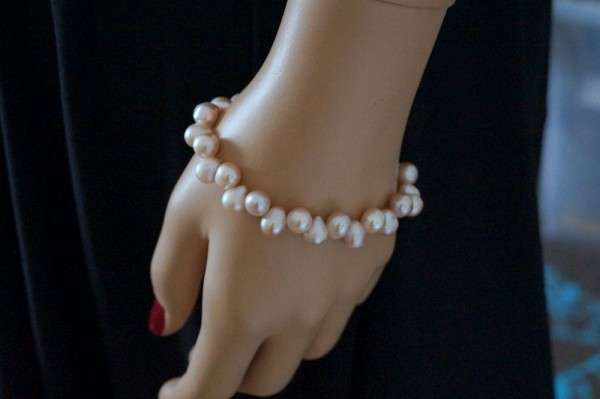 PerlenArmband SüßwasserZuchtperlen Muschel 925 Silber