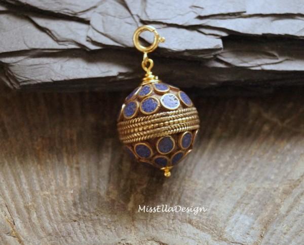 Anhänger Charm Turkmenische Perle 925 Silber verg.
