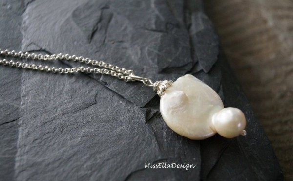 Kette Perle 925 Silber