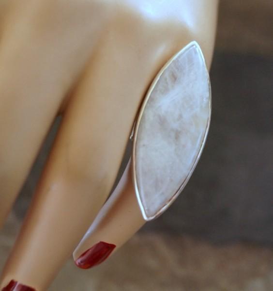 Ring Regenbogen Mondstein 925 Silber