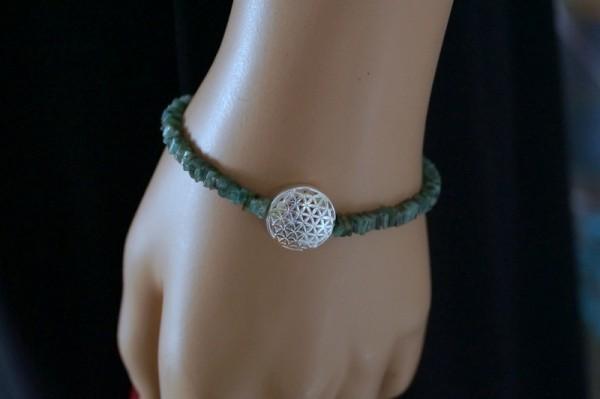 Smaragd Armband Blume des Lebens 925 Silber Unendlichkeit