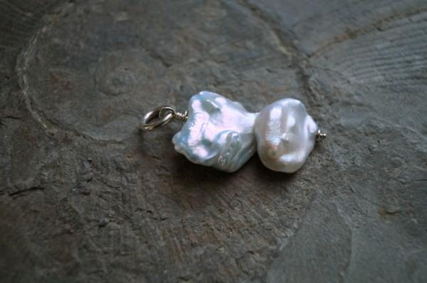 Perlenanhänger XXL Barockperle 925 Silber Geschenk für Frau