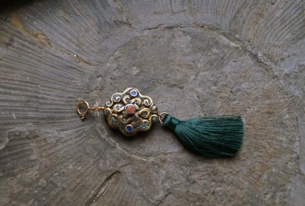 Tibetische Perle Anhänger Charm Quaste